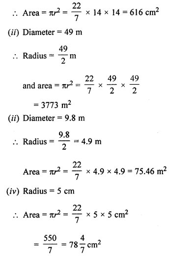 ML Aggarwal Class 7 Solutions for ICSE Maths Chapter 16 Perimeter and Area Ex 16.3 Q2