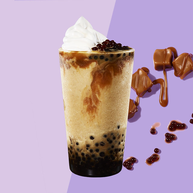 Starbucks_Dark Caramel Coffee Sphere Frappuccino® blended beverage
