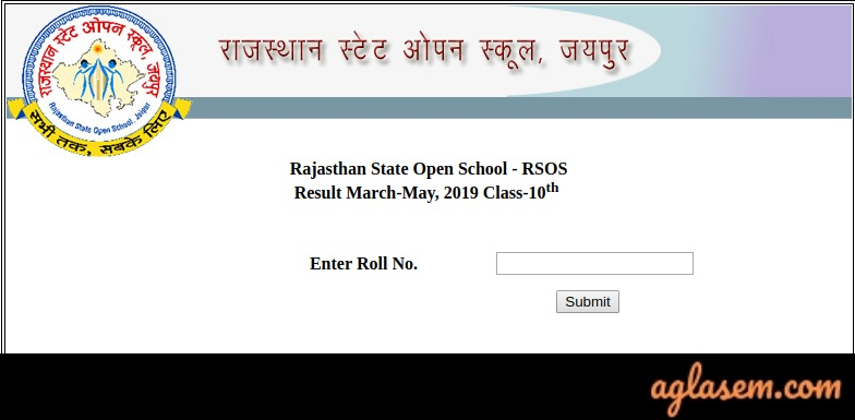 RSOS 10th Result March/ May 2019