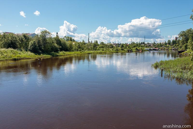 """Река Вытегра около музея """"Водные пути Севера"""""""