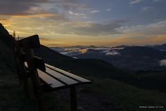 Sunset at Wildsee in Austria