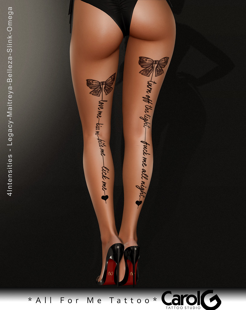All For Me Leg Tattoo Carol G Exclusive Cosmopolitan Eve Flickr