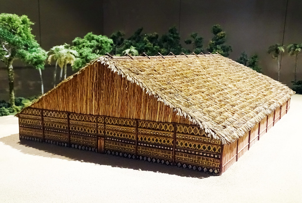 maqueta vivienda Maloca comunal de Amazonia Museo de America Madrid