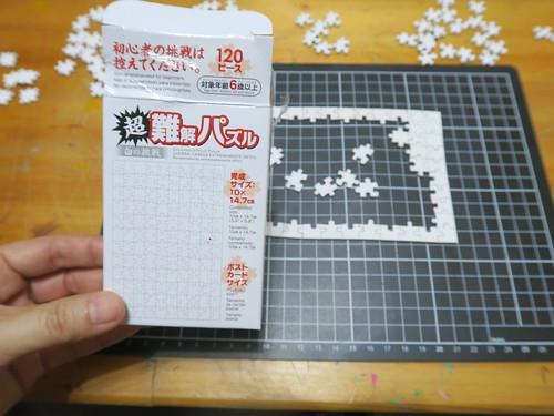 【拼圖】超難解白拼圖120片,一畫降難度(14.11ys)