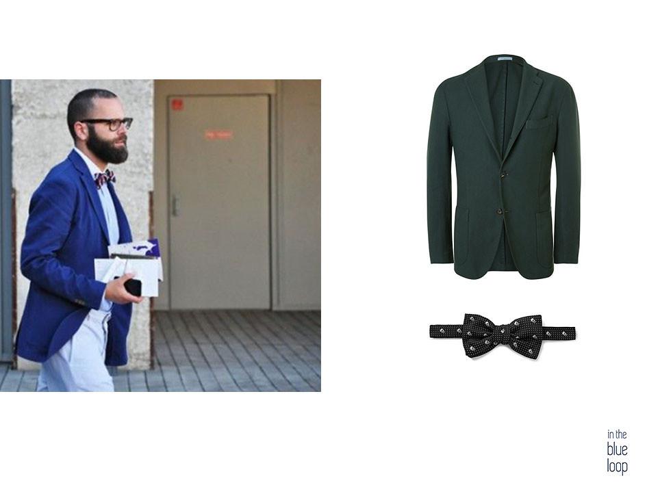 5 maneras de llevar un blazer este verano blazer de hombre con pajarita
