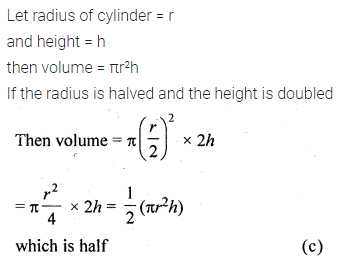 ML Aggarwal Class 10 Solutions for ICSE Maths Chapter 17 Mensuration MCQS Q1
