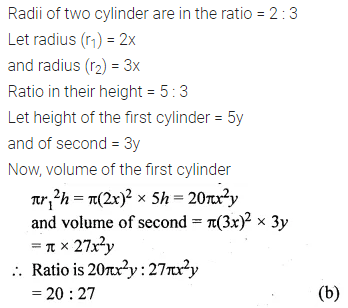 ML Aggarwal Class 10 Solutions for ICSE Maths Chapter 17 Mensuration MCQS Q5