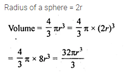 ML Aggarwal Class 10 Solutions for ICSE Maths Chapter 17 Mensuration MCQS Q9
