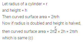 ML Aggarwal Class 10 Solutions for ICSE Maths Chapter 17 Mensuration MCQS Q2