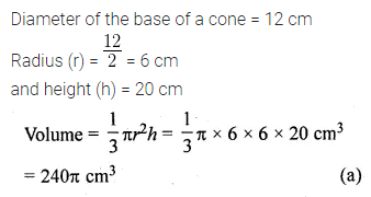 ML Aggarwal Class 10 Solutions for ICSE Maths Chapter 17 Mensuration MCQS Q8