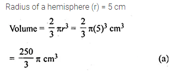 ML Aggarwal Class 10 Solutions for ICSE Maths Chapter 17 Mensuration MCQS Q11