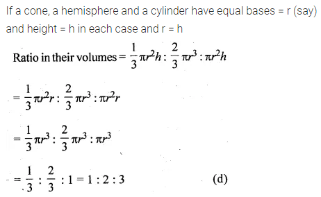 ML Aggarwal Class 10 Solutions for ICSE Maths Chapter 17 Mensuration MCQS Q22