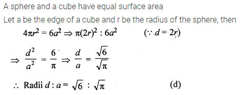 ML Aggarwal Class 10 Solutions for ICSE Maths Chapter 17 Mensuration MCQS Q23