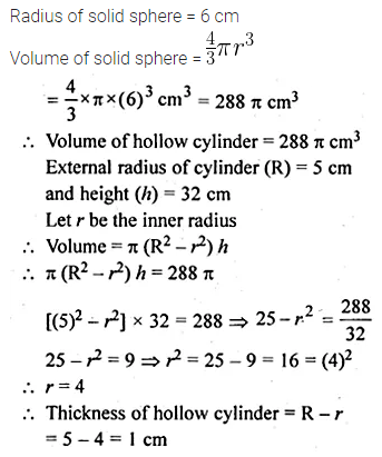 ML Aggarwal Class 10 Solutions for ICSE Maths Chapter 17 Mensuration Chapter Test Q23