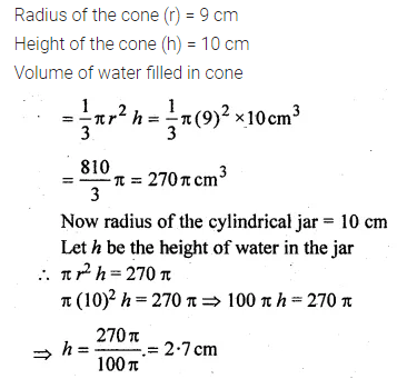 ML Aggarwal Class 10 Solutions for ICSE Maths Chapter 17 Mensuration Chapter Test Q12