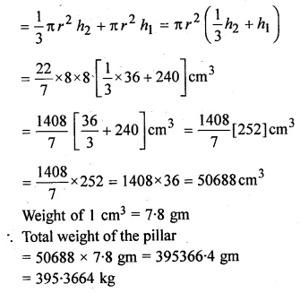 ML Aggarwal Class 10 Solutions for ICSE Maths Chapter 17 Mensuration Chapter Test Q13.1