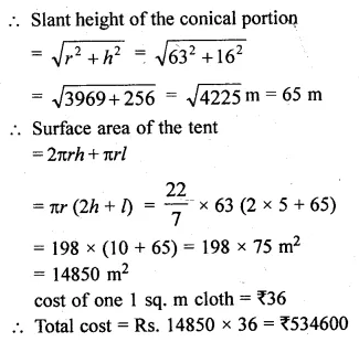 ML Aggarwal Class 10 Solutions for ICSE Maths Chapter 17 Mensuration Chapter Test Q14.1