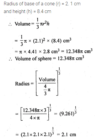 ML Aggarwal Class 10 Solutions for ICSE Maths Chapter 17 Mensuration Chapter Test Q16