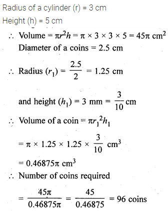 ML Aggarwal Class 10 Solutions for ICSE Maths Chapter 17 Mensuration Chapter Test Q18