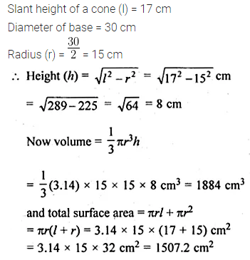 ML Aggarwal Class 10 Solutions for ICSE Maths Chapter 17 Mensuration Chapter Test Q3