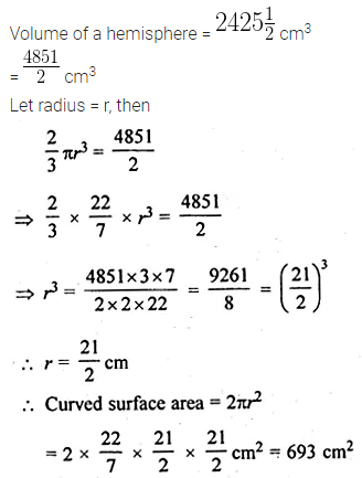 ML Aggarwal Class 10 Solutions for ICSE Maths Chapter 17 Mensuration Chapter Test Q6