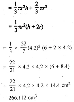 ML Aggarwal Class 10 Solutions for ICSE Maths Chapter 17 Mensuration Chapter Test Q7.1