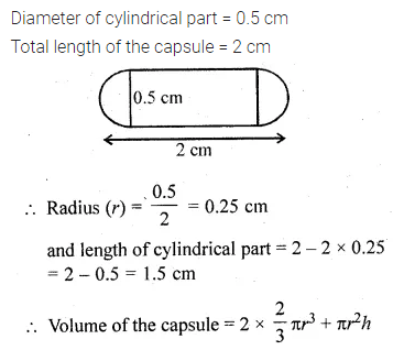 ML Aggarwal Class 10 Solutions for ICSE Maths Chapter 17 Mensuration Chapter Test Q8