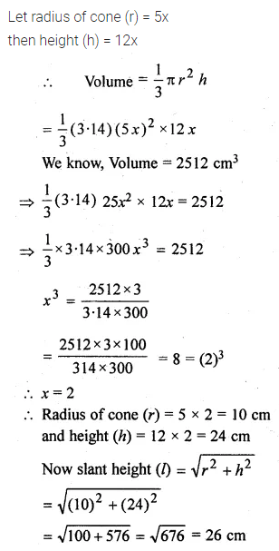 ML Aggarwal Class 10 Solutions for ICSE Maths Chapter 17 Mensuration Chapter Test Q10