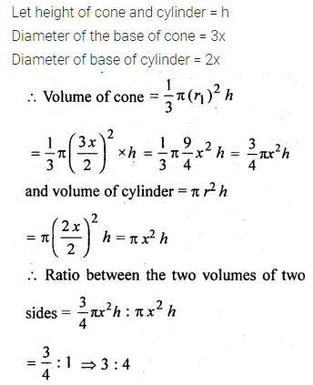 ML Aggarwal Class 10 Solutions for ICSE Maths Chapter 17 Mensuration Chapter Test Q11