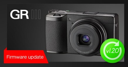 New firmware update v1.20 for RICOH GR III