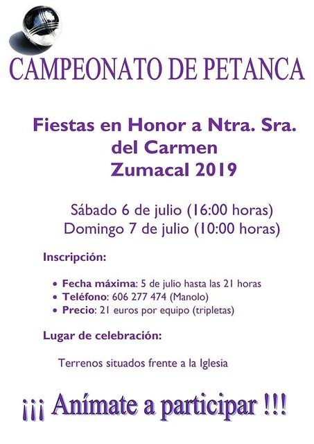 Zumacal organiza su Campeonato de Petanca