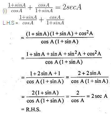 ML Aggarwal Class 10 Solutions for ICSE Maths Chapter 18 Trigonometric Identities Ex 18 Q17