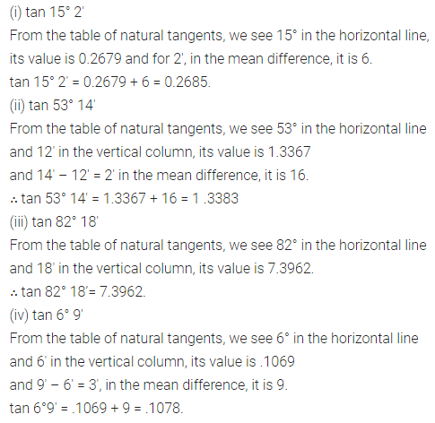 ML Aggarwal Class 10 Solutions for ICSE Maths Chapter 19 Trigonometric Tables Ex 19 Q3