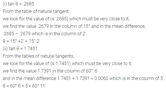 ML Aggarwal Class 10 Solutions for ICSE Maths Chapter 19 Trigonometric Tables Ex 19 Q6