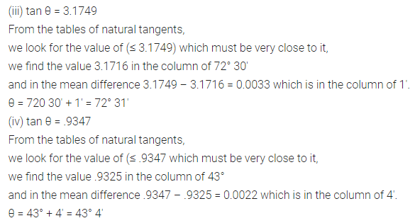 ML Aggarwal Class 10 Solutions for ICSE Maths Chapter 19 Trigonometric Tables Ex 19 Q6.1