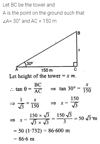 ML Aggarwal Class 10 Solutions for ICSE Maths Chapter 20 Heights and Distances Ex 20 Q2