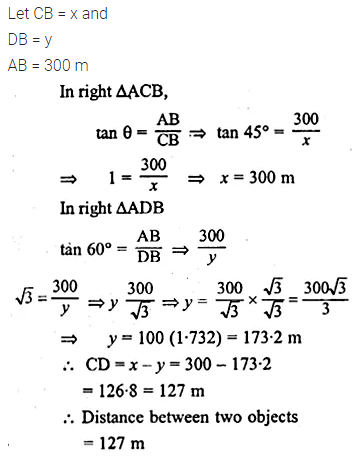 ML Aggarwal Class 10 Solutions for ICSE Maths Chapter 20 Heights and Distances Ex 20 Q24.1