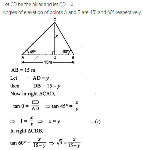 ML Aggarwal Class 10 Solutions for ICSE Maths Chapter 20 Heights and Distances Ex 20 Q27