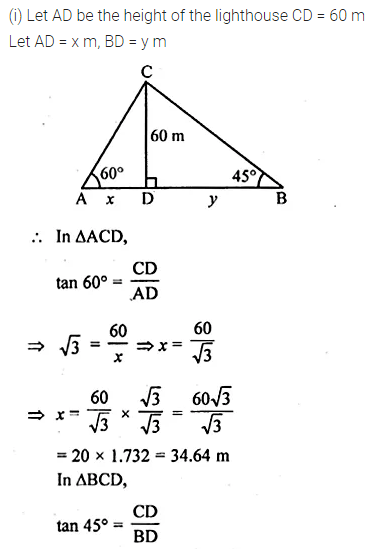 ML Aggarwal Class 10 Solutions for ICSE Maths Chapter 20 Heights and Distances Ex 20 Q29