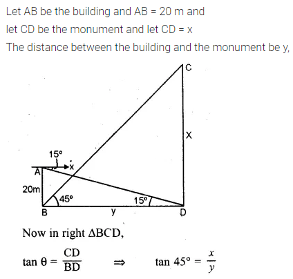 ML Aggarwal Class 10 Solutions for ICSE Maths Chapter 20 Heights and Distances Ex 20 Q35