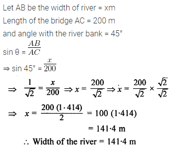 ML Aggarwal Class 10 Solutions for ICSE Maths Chapter 20 Heights and Distances Ex 20 Q10.1