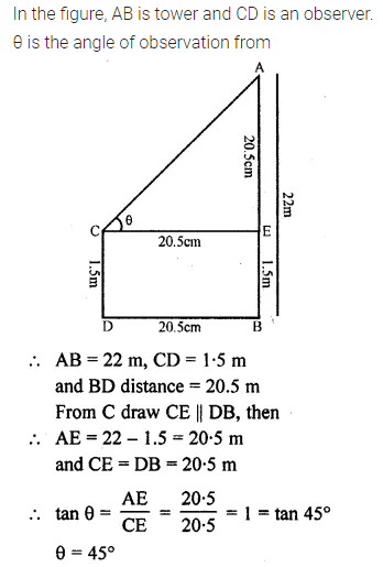 ML Aggarwal Class 10 Solutions for ICSE Maths Chapter 20 Heights and Distances Ex 20 Q13