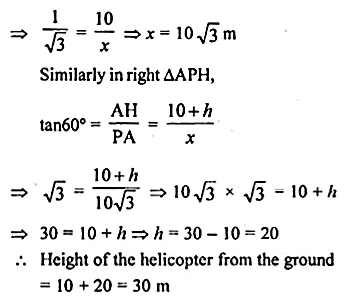 ML Aggarwal Class 10 Solutions for ICSE Maths Chapter 20 Heights and Distances Ex 20 Q15.1