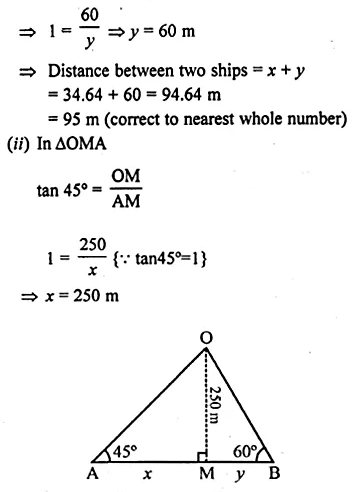 ML Aggarwal Class 10 Solutions for ICSE Maths Chapter 20 Heights and Distances Ex 20 Q29.1
