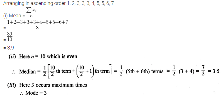 ML Aggarwal Class 10 Solutions for ICSE Maths Chapter 21 Measures of Central Tendency Ex 21.3 Q4