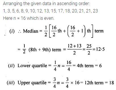 ML Aggarwal Class 10 Solutions for ICSE Maths Chapter 21 Measures of Central Tendency Chapter Test Q17