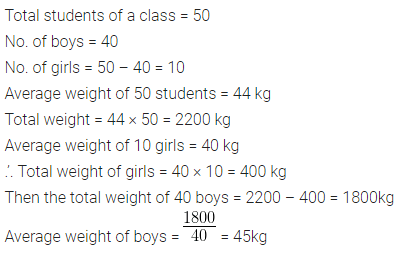 ML Aggarwal Class 10 Solutions Chapter 21 Measures of Central Tendency Chapter Test Q4