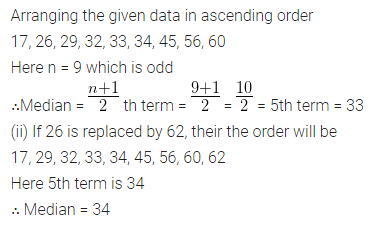 Understanding ICSE Mathematics Class 10 ML Aggarwal Pdf Chapter 21 Measures of Central Tendency Chapter Test Q16