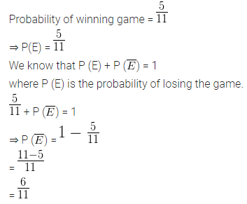 ML Aggarwal Class 10 Solutions for ICSE Maths Chapter 22 Probability Ex 22 Q5