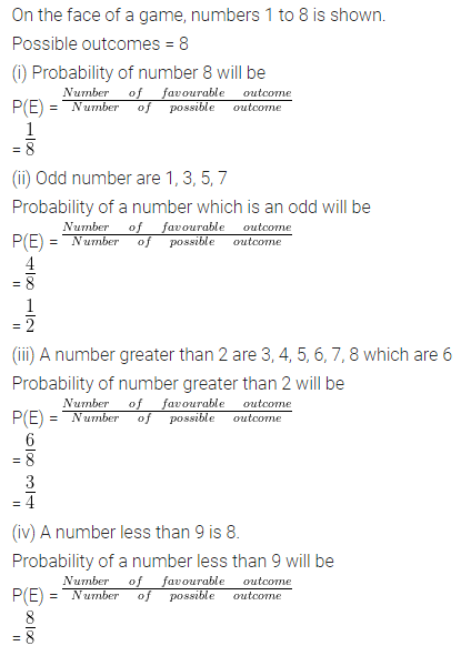 ML Aggarwal Class 10 Solutions for ICSE Maths Chapter 22 Probability Ex 22 Q19.1